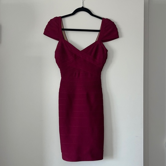 XS Herve Leger Red dress